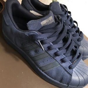adidas Shoes - Adidas Superstar Navy Suede 6/6.5